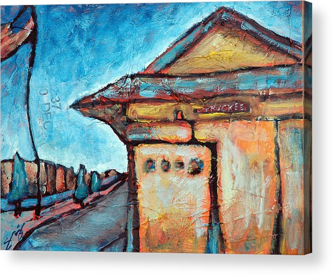 Truckee Acrylic Print featuring the painting Truckee Train Depot Number 2 by Sara Zimmerman