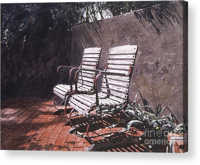 Gardens Acrylic Print featuring the painting Virginia's Repose by David Lloyd Glover
