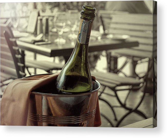 Champagne Acrylic Print featuring the photograph Viva Lamour Chill To Taste by JAMART Photography