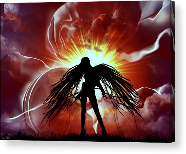 War Acrylic Print featuring the painting War Angel by Tim Odom