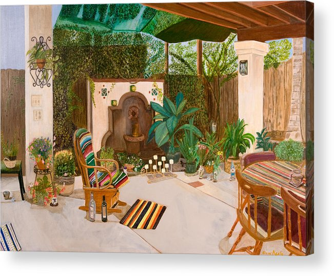 Landscape Acrylic Print featuring the painting Welcome To Paradise by Arvin Nealy