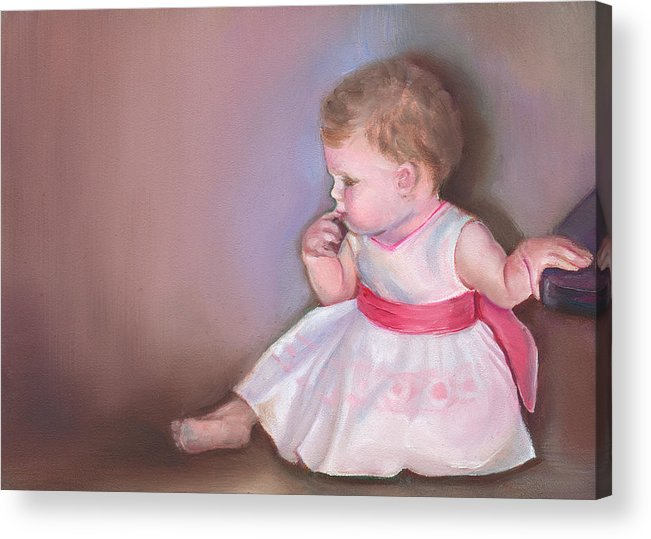What If Acrylic Print featuring the painting What If by Mary Johnson