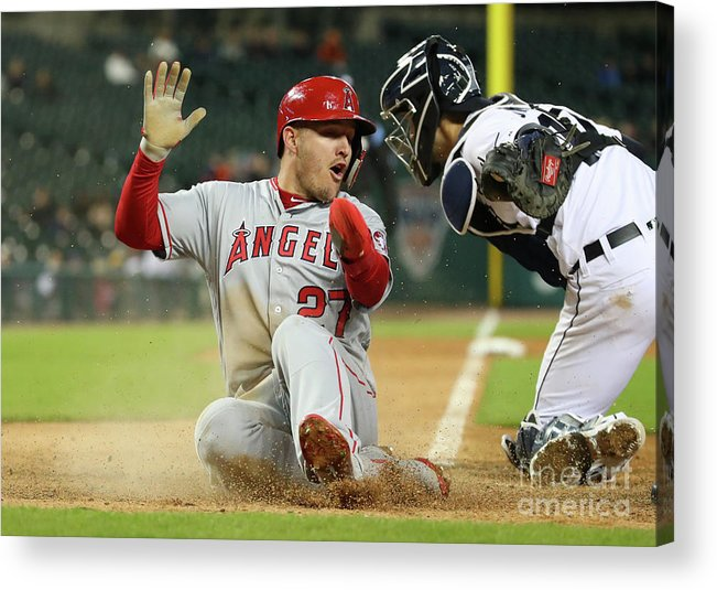People Acrylic Print featuring the photograph Los Angeles Angels Of Anaheim V Detroit 1 by Gregory Shamus