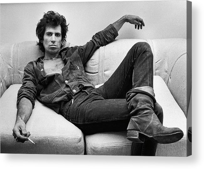 Rock Music Acrylic Print featuring the photograph Keith Richards Portrait Session by George Rose
