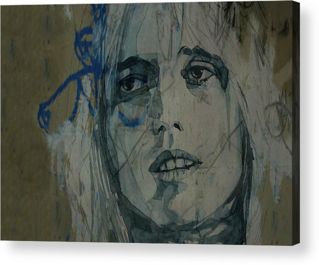 Tom Petty Acrylic Print featuring the painting Tom Petty - Resize by Paul Lovering