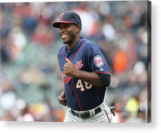 People Acrylic Print featuring the photograph Torii Hunter by Leon Halip
