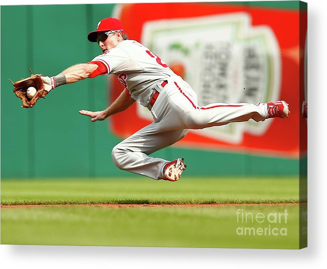 Second Inning Acrylic Print featuring the photograph Chase Utley by Jared Wickerham