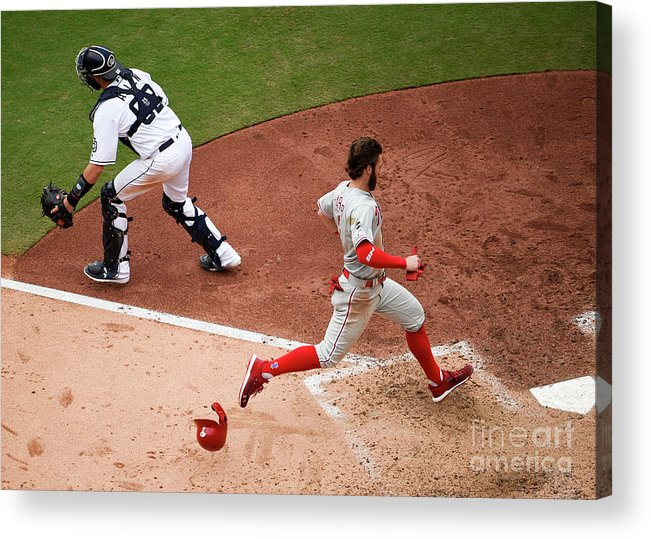 People Acrylic Print featuring the photograph Bryce Harper by Denis Poroy