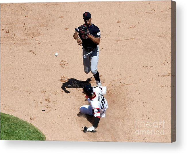 People Acrylic Print featuring the photograph Francisco Lindor by David Banks