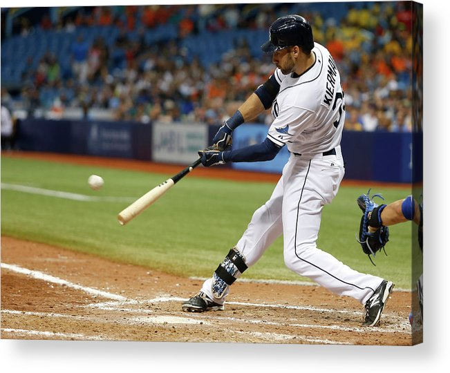 Ninth Inning Acrylic Print featuring the photograph Kevin Kiermaier by Brian Blanco