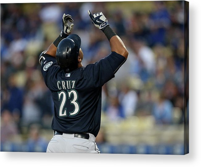 People Acrylic Print featuring the photograph Nelson Cruz by Stephen Dunn