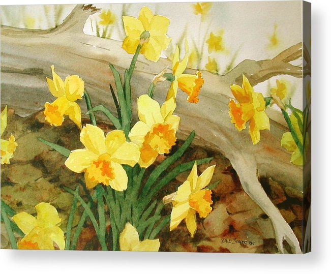 Spring Acrylic Print featuring the painting First Signs Of Spring by Faye Ziegler