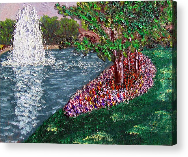 Fountain Acrylic Print featuring the painting Wrsp August by Stan Hamilton