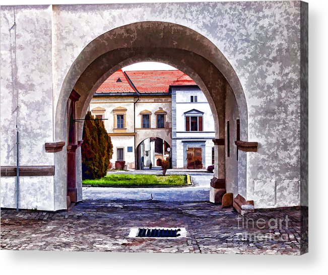 Arch Acrylic Print featuring the photograph Archways by Les Palenik