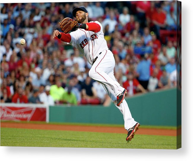 People Acrylic Print featuring the photograph Baltimore Orioles V Boston Red Sox 1 by Winslow Townson