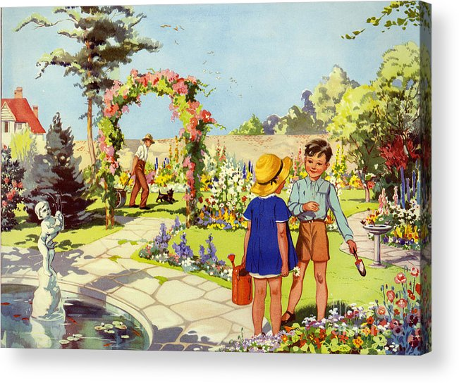 1950�s Acrylic Print featuring the drawing Infant School Illustrations 1950s Uk by The Advertising Archives