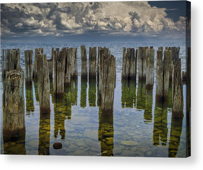Art Acrylic Print featuring the photograph Shore Pilings At Fayette State Park by Randall Nyhof