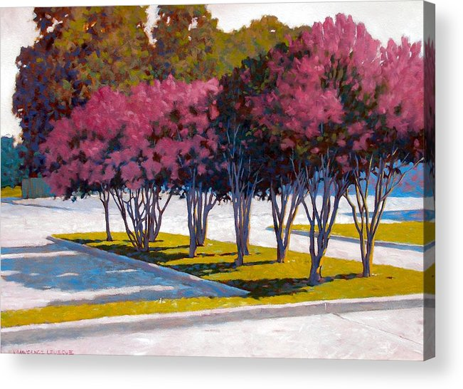 Crepe Myrtles Acrylic Print featuring the painting Balanced Account by Kevin Lawrence Leveque