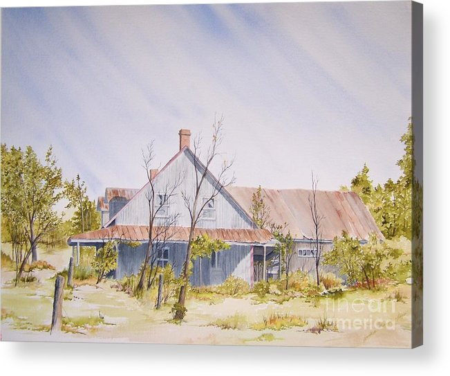 Old House Acrylic Print featuring the painting Just A Memory by Jackie Mueller-Jones