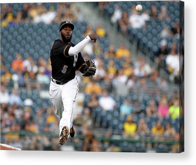 People Acrylic Print featuring the photograph Miami Marlins V Pittsburgh Pirates 2 by Justin K. Aller