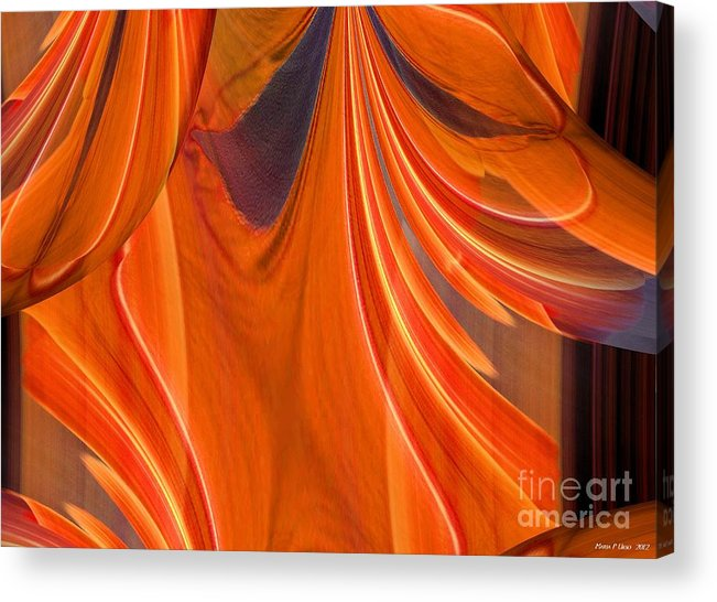 Abstract 201 Acrylic Print featuring the digital art Abstract 201 by Maria Urso