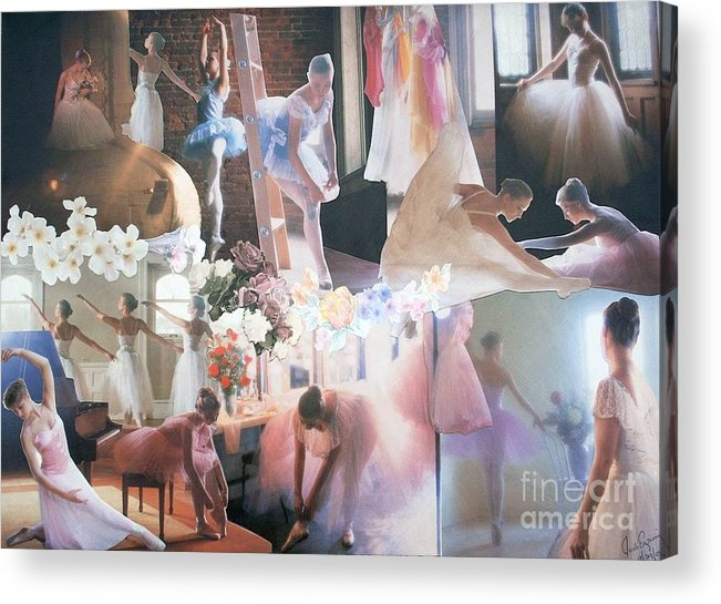 Pictures Of Ballarinas At Work Or In Performance; Ballet; Stage Acrylic Print featuring the mixed media Ballarina Beauty - Sold by Judith Espinoza