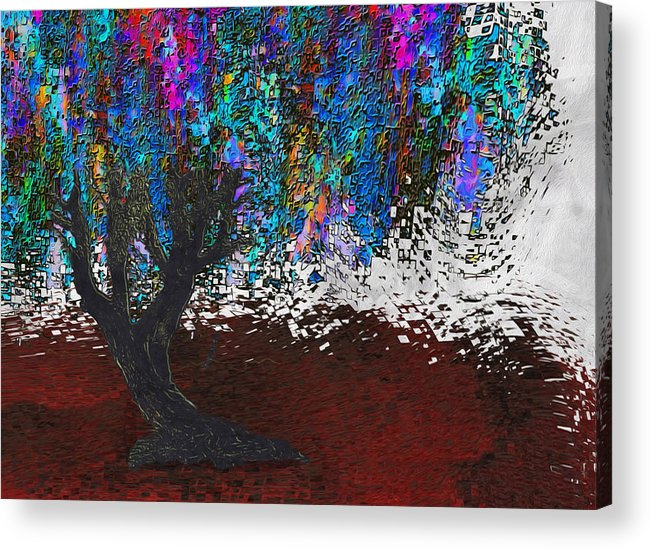 Digital Acrylic Print featuring the painting Changing Tree by Jack Zulli