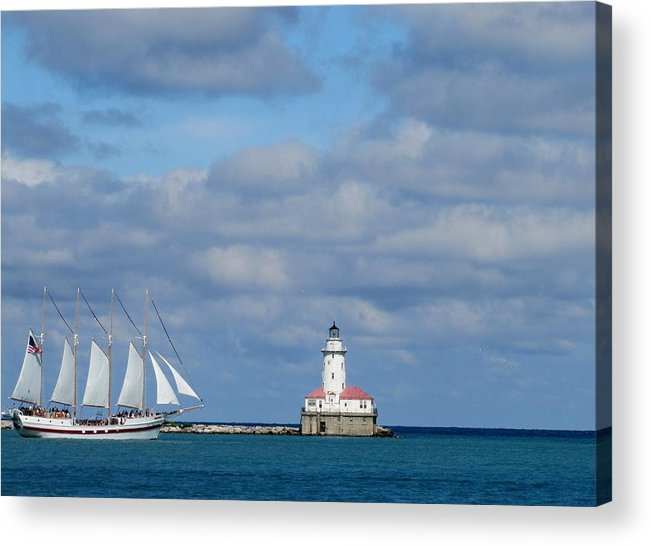 Ship Acrylic Print featuring the photograph Chicago Clipper by Elizabeth Hardie