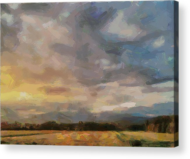 Simple Acrylic Print featuring the digital art Colorful Sky by Yury Malkov