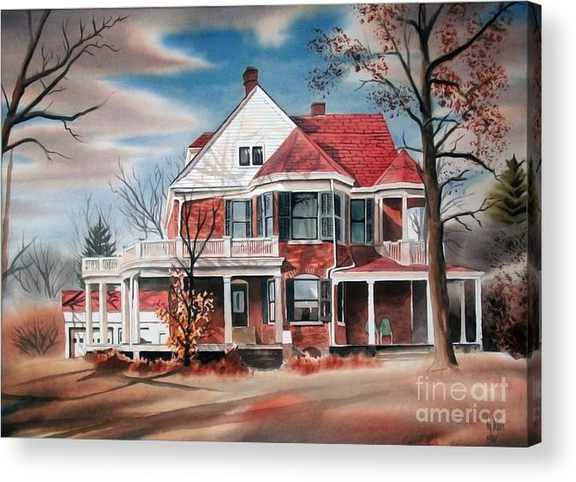 Edgar Home Acrylic Print featuring the painting Edgar Home by Kip DeVore