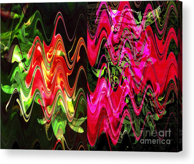 Abstract Acrylic Print featuring the digital art Energy by Yael VanGruber