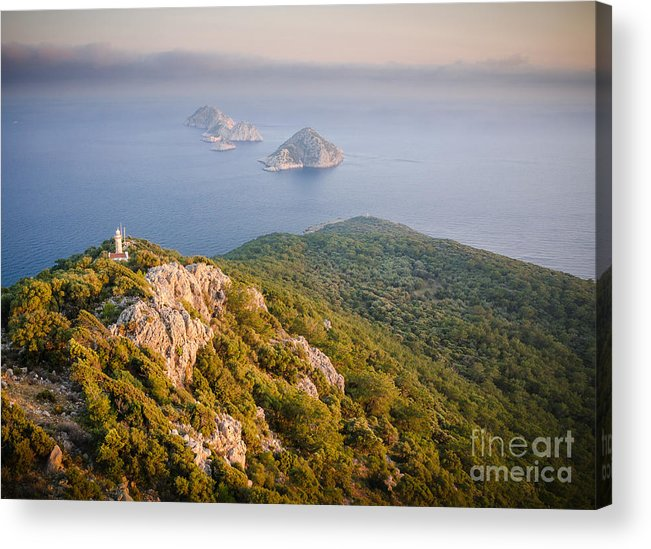 Asia Acrylic Print featuring the photograph Gelidonia Headland At Sunset 2 by OUAP Photography