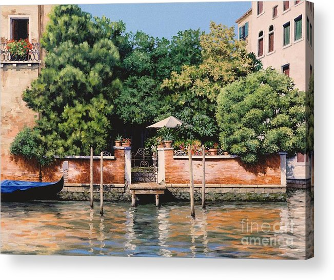 Venice Oasis Acrylic Print featuring the painting Grand Canal Oasis by Michael Swanson