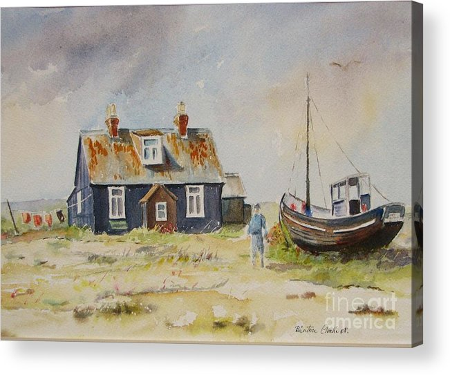 Dungeness Acrylic Print featuring the painting Home Sweet Home Dungeness by Beatrice Cloake