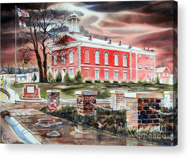 Iron County Courthouse No W102 Acrylic Print featuring the painting Iron County Courthouse No W102 by Kip DeVore