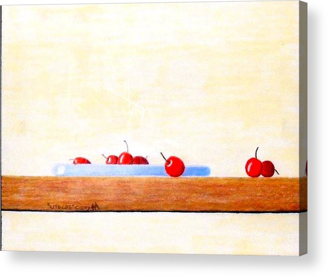 Cherries Acrylic Print featuring the painting Lite Life by A Robert Malcom