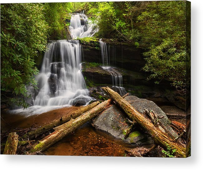 Martins Acrylic Print featuring the photograph Martins Creek Falls by Alex Mironyuk