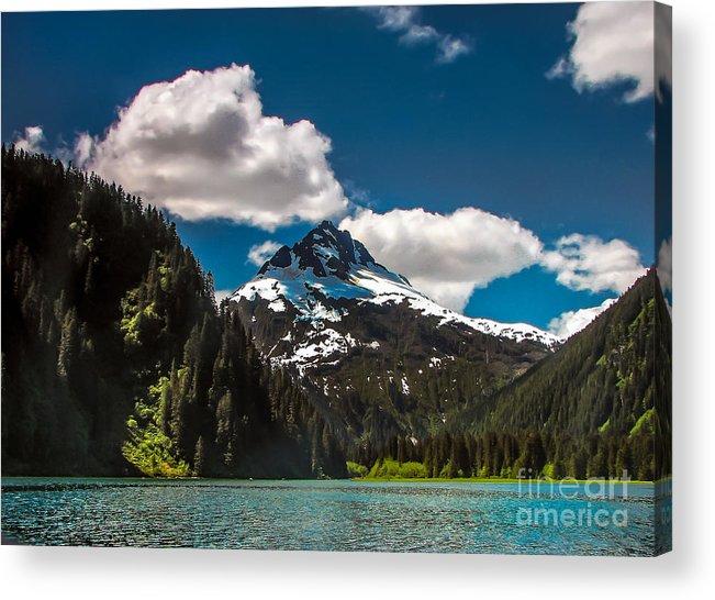Alaska Acrylic Print featuring the photograph Mountain View by Robert Bales