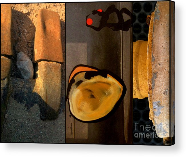 Abstract Acrylic Print featuring the painting p HOTography 140 by Marlene Burns