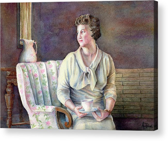Woman Portrait Acrylic Print featuring the painting Patricia by Arthur Fix