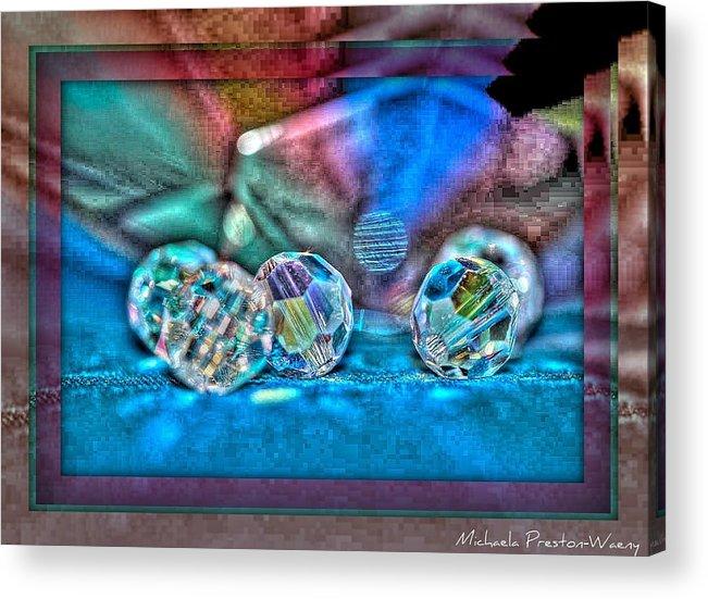 Art Acrylic Print featuring the photograph Pearls by Michaela Preston