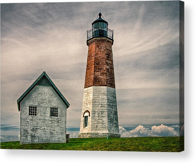 Point Judith Acrylic Print featuring the photograph Point Judith by Fred LeBlanc