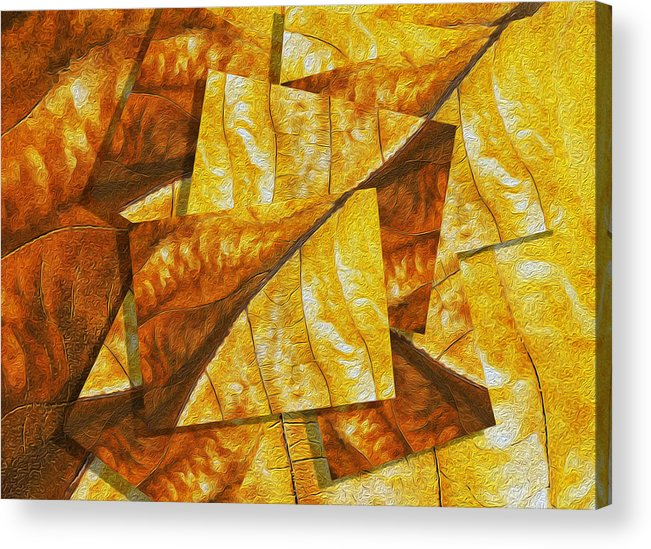 Digital Acrylic Print featuring the painting Shades Of Autumn by Jack Zulli