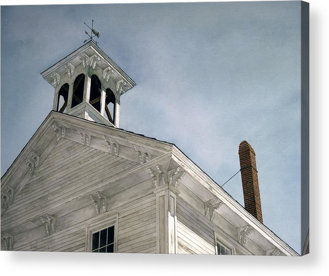 Landscape Acrylic Print featuring the painting Silenced Bell by Tom Wooldridge