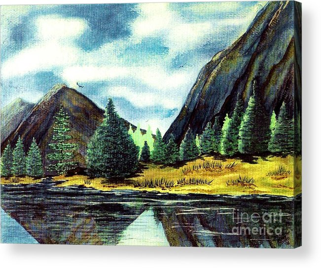 Fine Art Acrylic Print featuring the painting Solitude by Patricia Griffin Brett