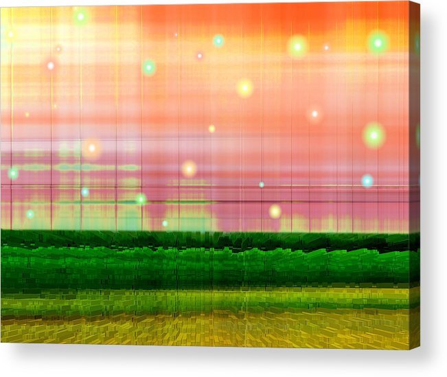 Abstract Acrylic Print featuring the digital art Sweet Tuesday Morning by Wendy J St Christopher