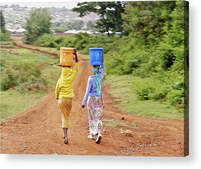 Women Acrylic Print featuring the photograph The Watercarriers by Pat Tracey