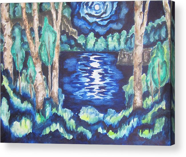 Nature Acrylic Print featuring the painting Untitled Wcs by Cheryl Pettigrew