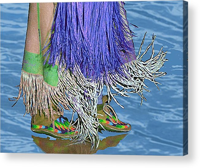 Pow Wow Acrylic Print featuring the digital art Water Dancing by Kae Cheatham