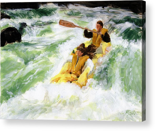 Acrylic Acrylic Print featuring the painting White Water by Michael Beckett